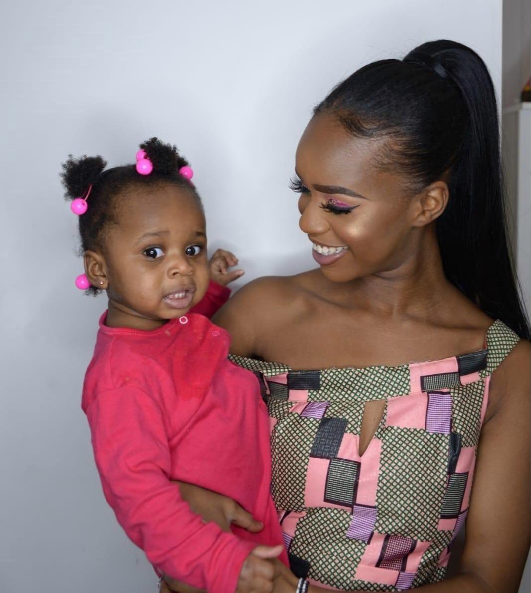 Verphy Kudi và con gái, Asiah. Ảnh: The Sun