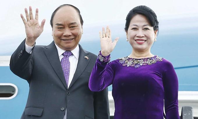 Chủ tịch nước Nguyễn Xuân Phúc và phu nhân. Ảnh: TTXVN.