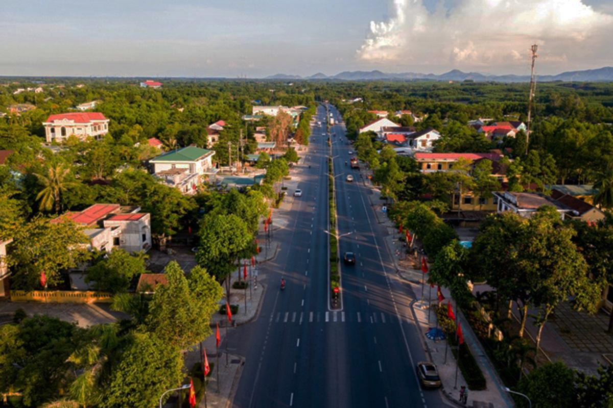 Thị trấn Phong Điền thực hiện giãn cách xã hội từ ngày 10/8. Ảnh: Vạn An
