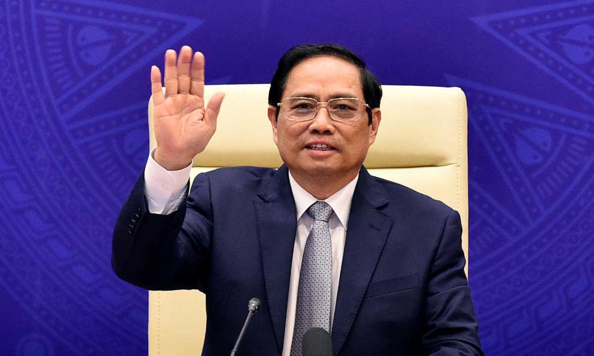 Thủ tướng Phạm Minh Chính trong phiên họp của Hội đồng Bảo an hôm 9/8. Ảnh: BNG.