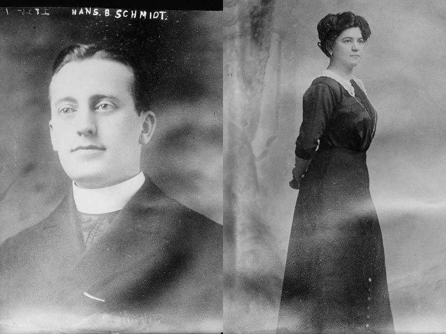Hans Schmidt và vợ, Anna Aumüller. Ảnh: Allthatinteresting
