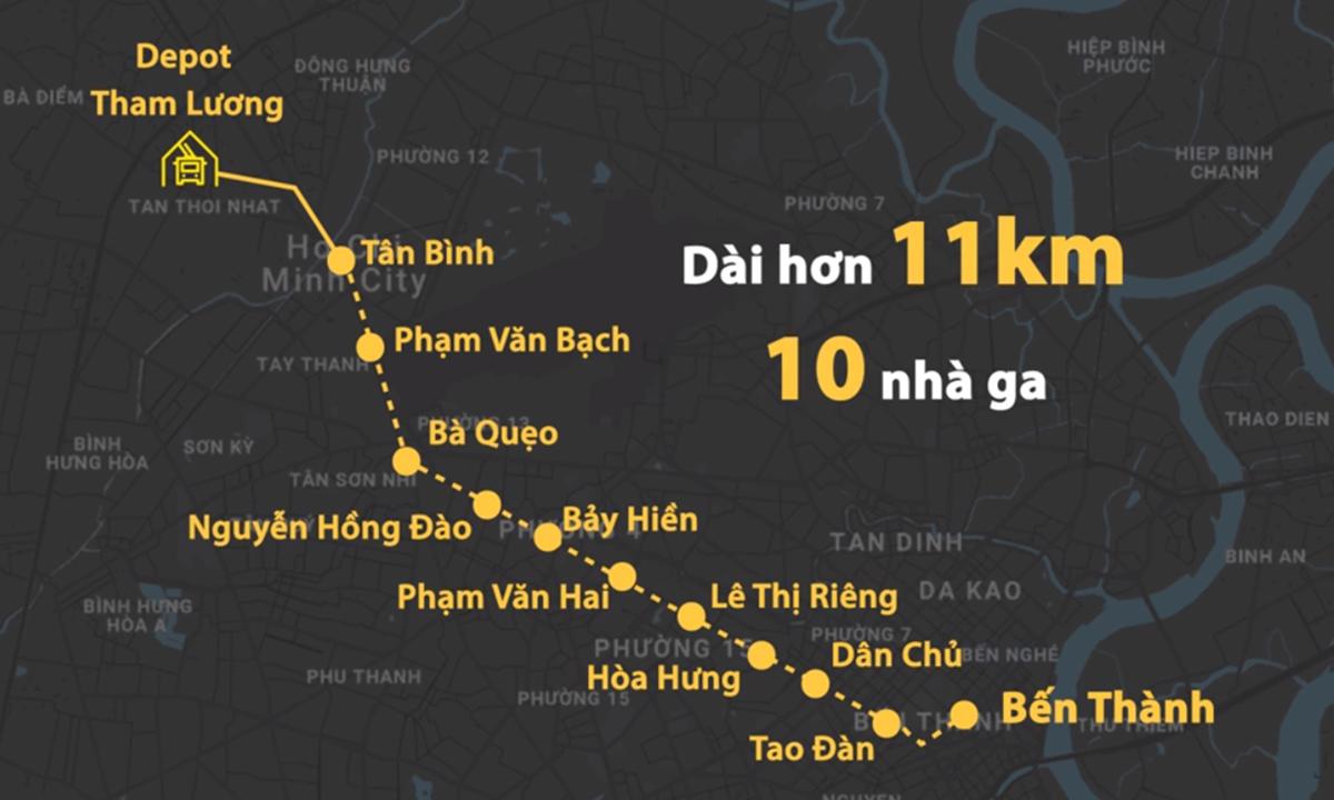 Sơ đồ tuyến Metro Số 2. Đồ hoạ: Thanh Huyền.