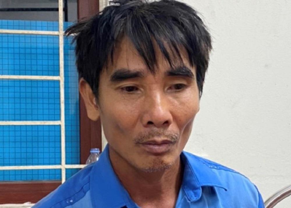 Nghi phạm Nguyễn Hữu Phú tại cơ quan điều tra. Ảnh: Công an cung cấp