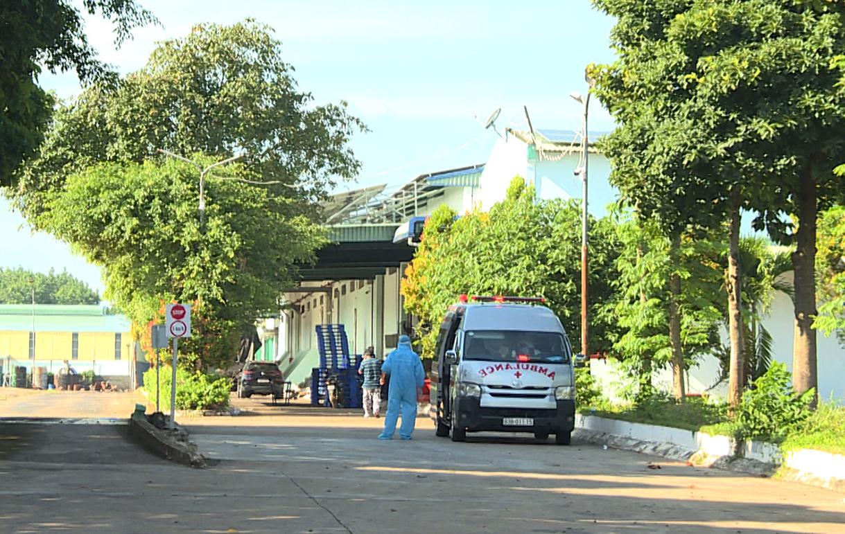 Nhân viên y tế sàng lọc, truy vết dịch tễ bên trong công ty Nguyên Bình. Ảnh: Văn Trăm