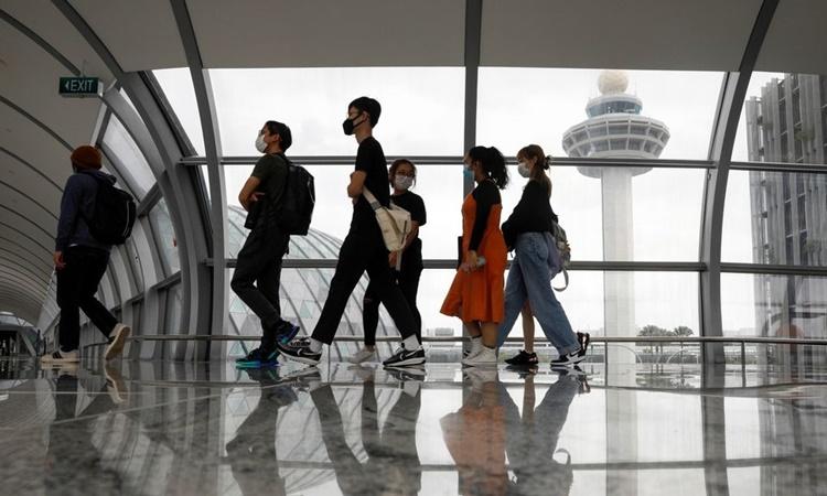 Sân bay Changi, Singapore, hồi tháng một. Ảnh: Reuters.