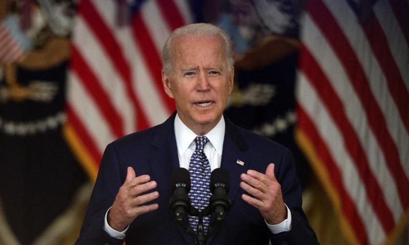 Tổng thống Mỹ Joe Biden phát biểu tại Nhà Trắng hôm 10/8. Ảnh: AFP.