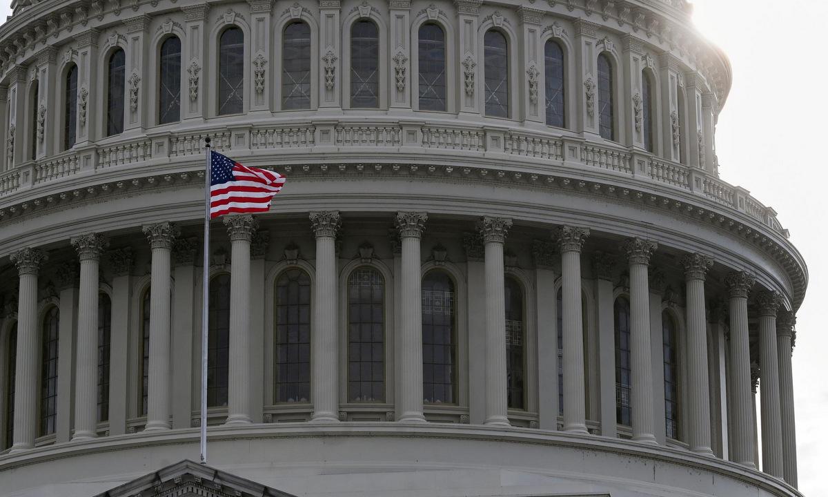 Bên ngoài tòa nhà quốc hội Mỹ hồi tháng 8/2020. Ảnh: Reuters.