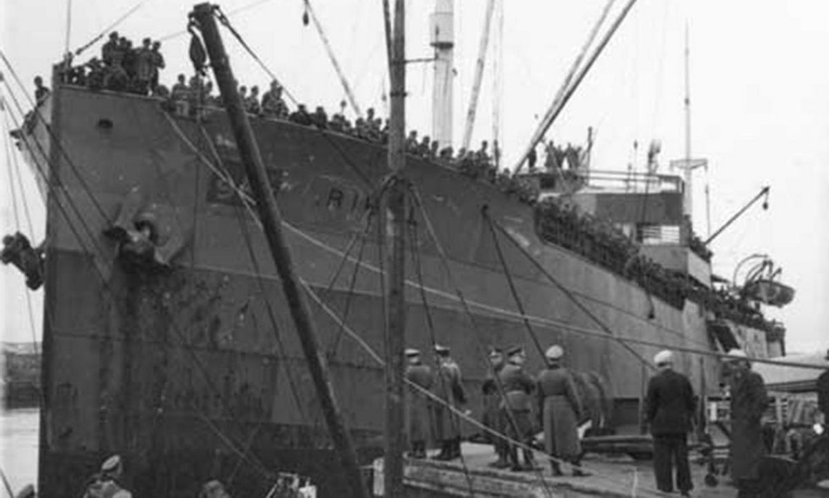 Tàu Rigel sau khi bị quân Đức trưng dụng. Ảnh: Wikipedia.