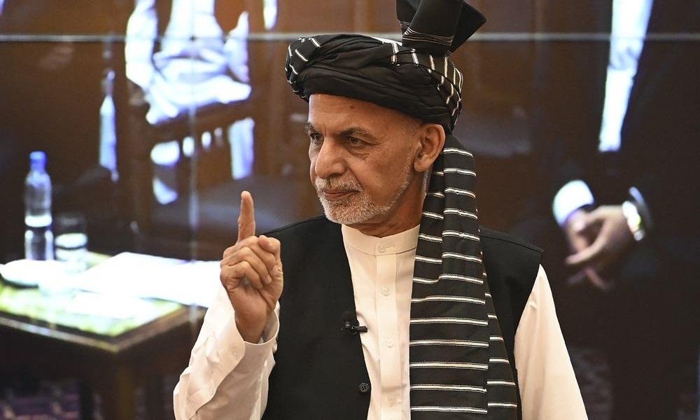 Tổng thống Afghanistan Ashraf Ghani tại phủ tổng thống ở thủ đô Kabul hôm 4/8. Ảnh: AFP.