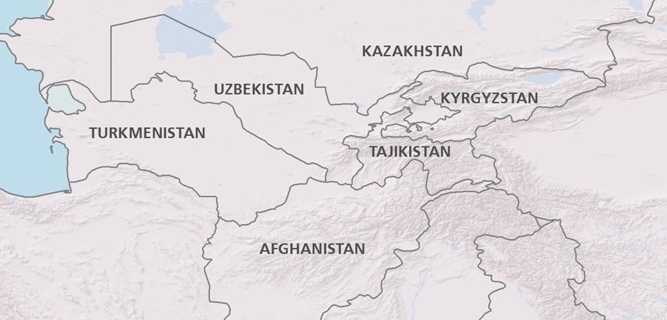 Vị trí Afghanistan với Uzbekistan và Tajikistan. Đồ họa: Geopolitical Monitor.