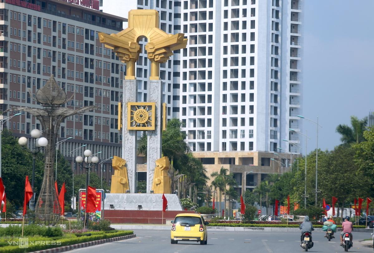 Đường phố trung tâm TP Bắc Ninh ngày 12/8. Ảnh: Gia Chính