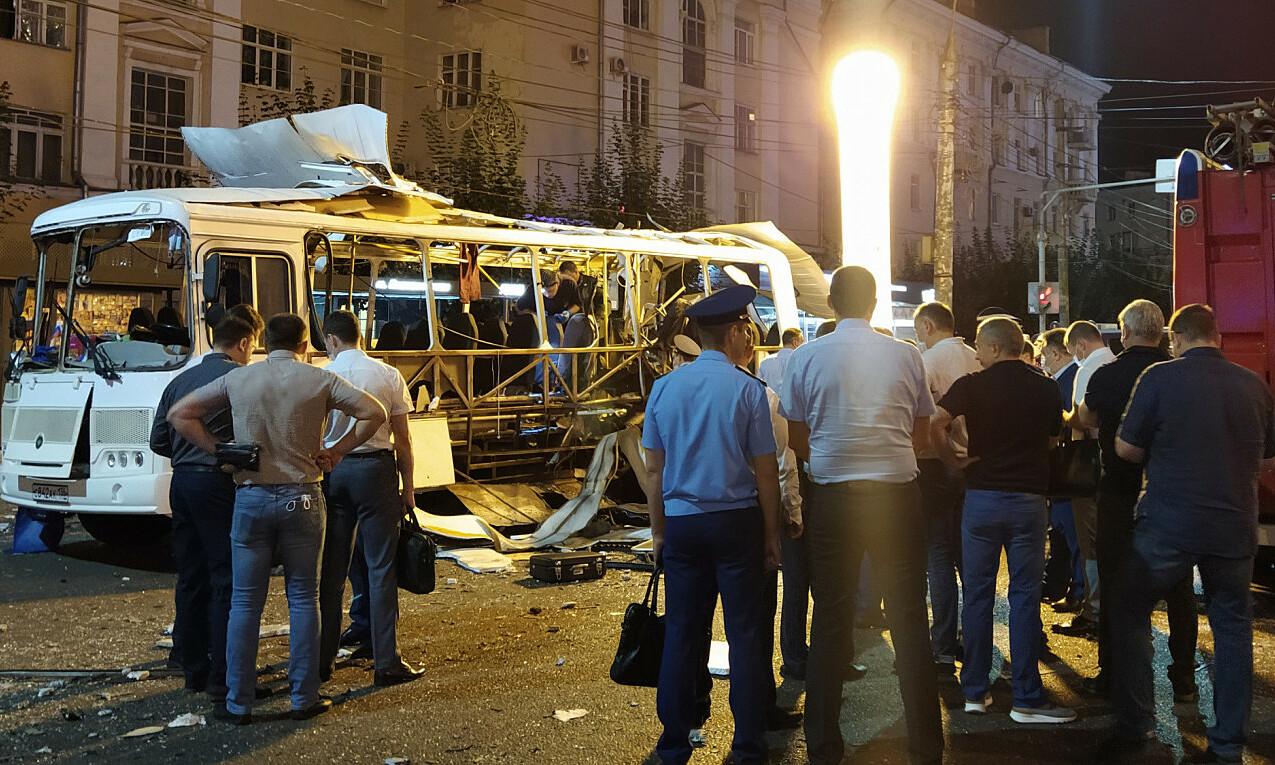 Vụ nổ xảy ra vào khoảng 21h30 ngày 12/8 tại thành phố Voronezh, ở tây nam nước Nga. Ảnh: TASS.