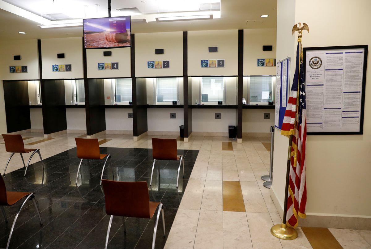 Một khu vực tại đại sứ quán Mỹ tại Kabul, Afghanistan ngày 30/7. Ảnh: Reuters.