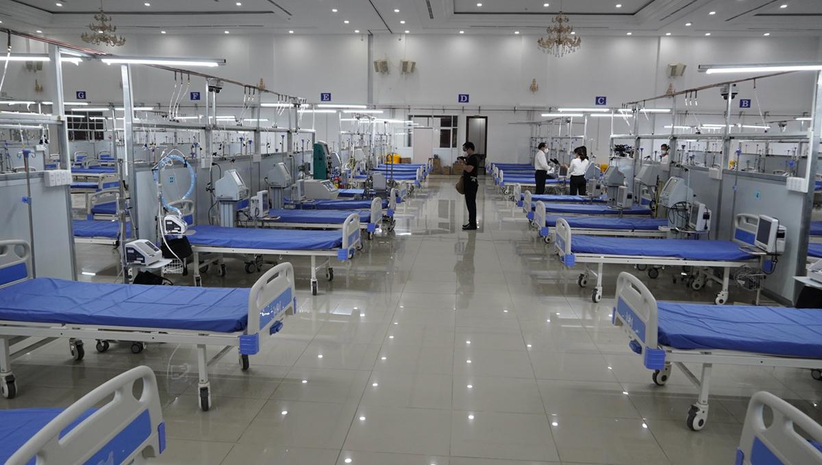 Trung tâm hồi sức quy mô 150 giường bệnh, có thể mở rộng thêm 100 giường tùy tình hình thực tế . Ảnh: Hoàng Nam