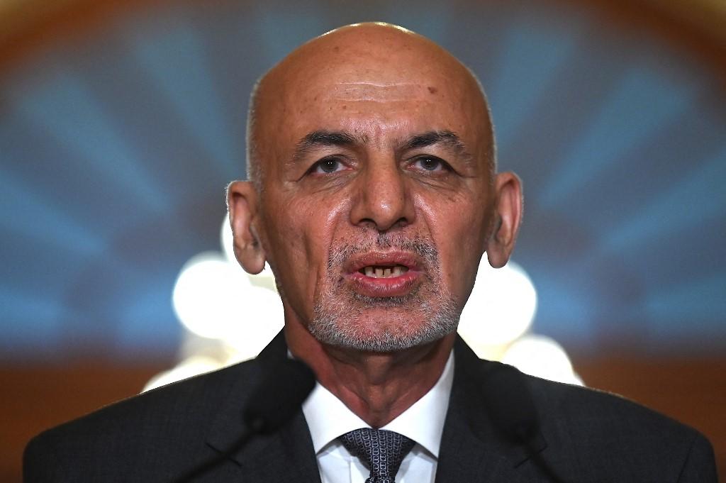 Tổng thống Afghanistan Ashraf Ghani tại Mỹ ngày 25/6. Ảnh: AFP