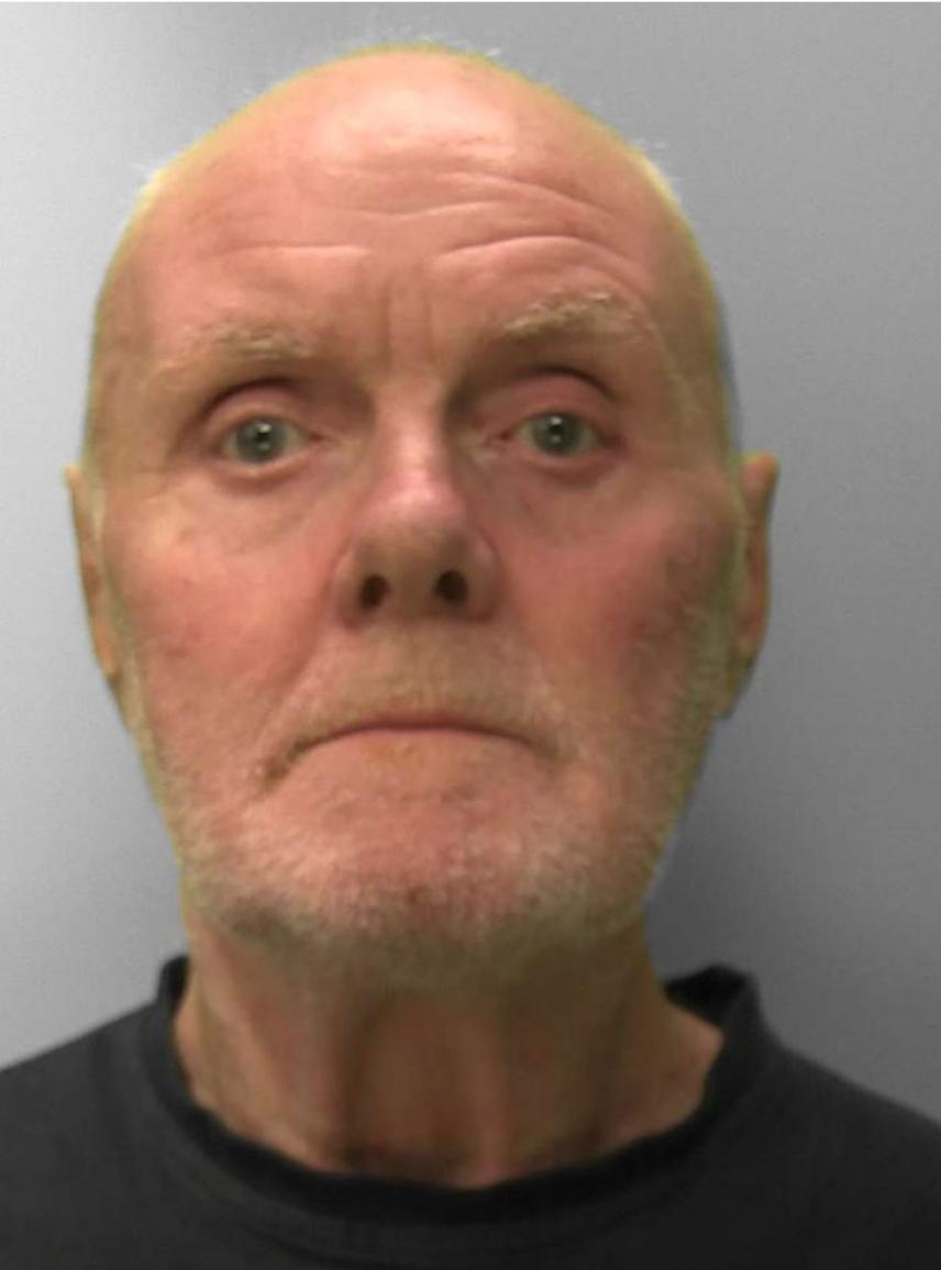 Alan Slattery 67 tuổi, đã nghỉ hưu được vài năm. Ảnh: Sussex Police