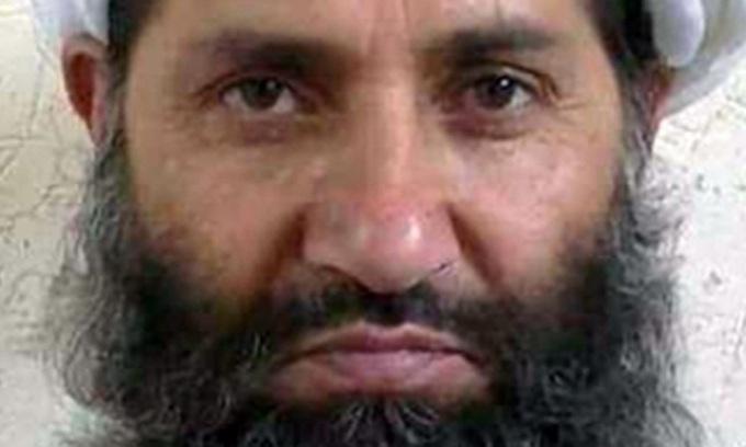 Thủ lĩnh tối cao Taliban Haibatullah Akhunzada. Ảnh: Reuters.