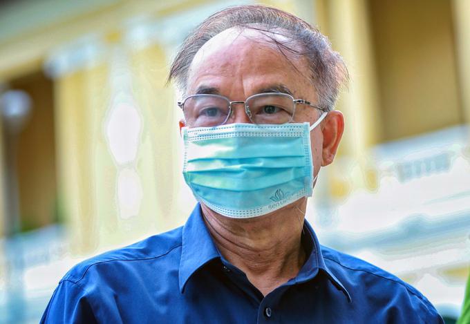 Ông Nguyễn Thành Tài tại Tòa án nhân dân TP HCM, tháng 9/2020. Ảnh:Hữu Khoa