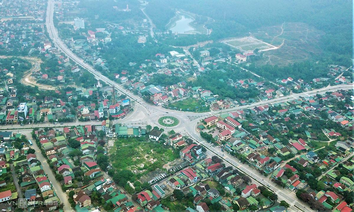 Trung tâm thị xã Hồng Lĩnh. Ảnh: Đức Hùng