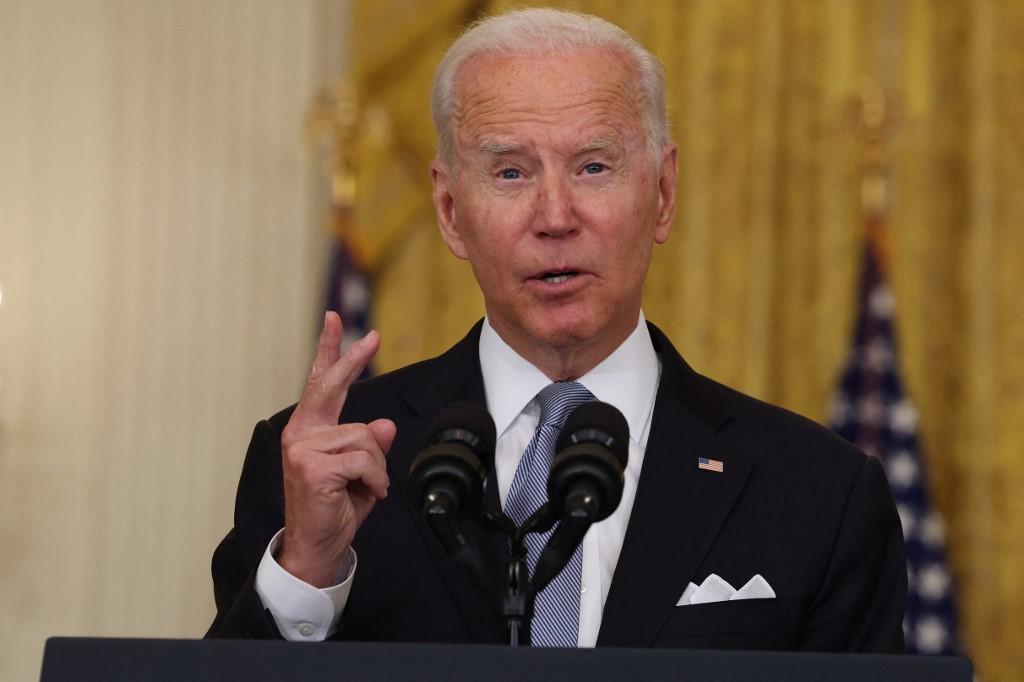 Tổng thống Mỹ Joe Biden phát biểu về cuộc khủng hoảng ở Afghanistan tại Nhà Trắng hôm 16/8. Ảnh: AFP