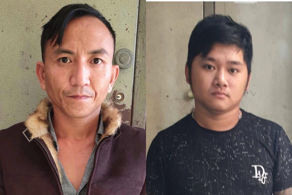 Nguyễn Trường Sơn (trái) và Phạm Hoàng Duy lúc bị bắt. Ảnh: Ngọc Oanh