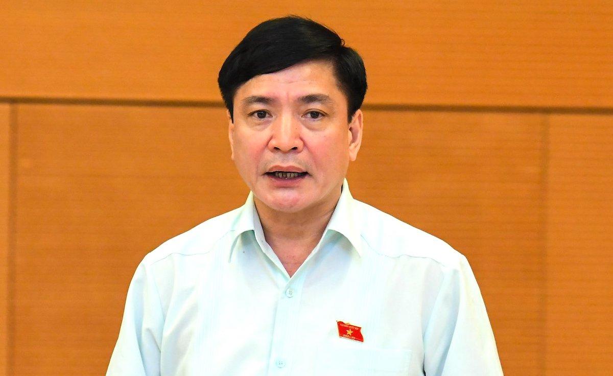 Tổng thư ký Quốc hội Bùi Văn Cường tại phiên họp Thường vụ Quốc hội. Ảnh: Hoàng Phong