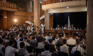 Cuộc họp báo đầu tiên của Taliban