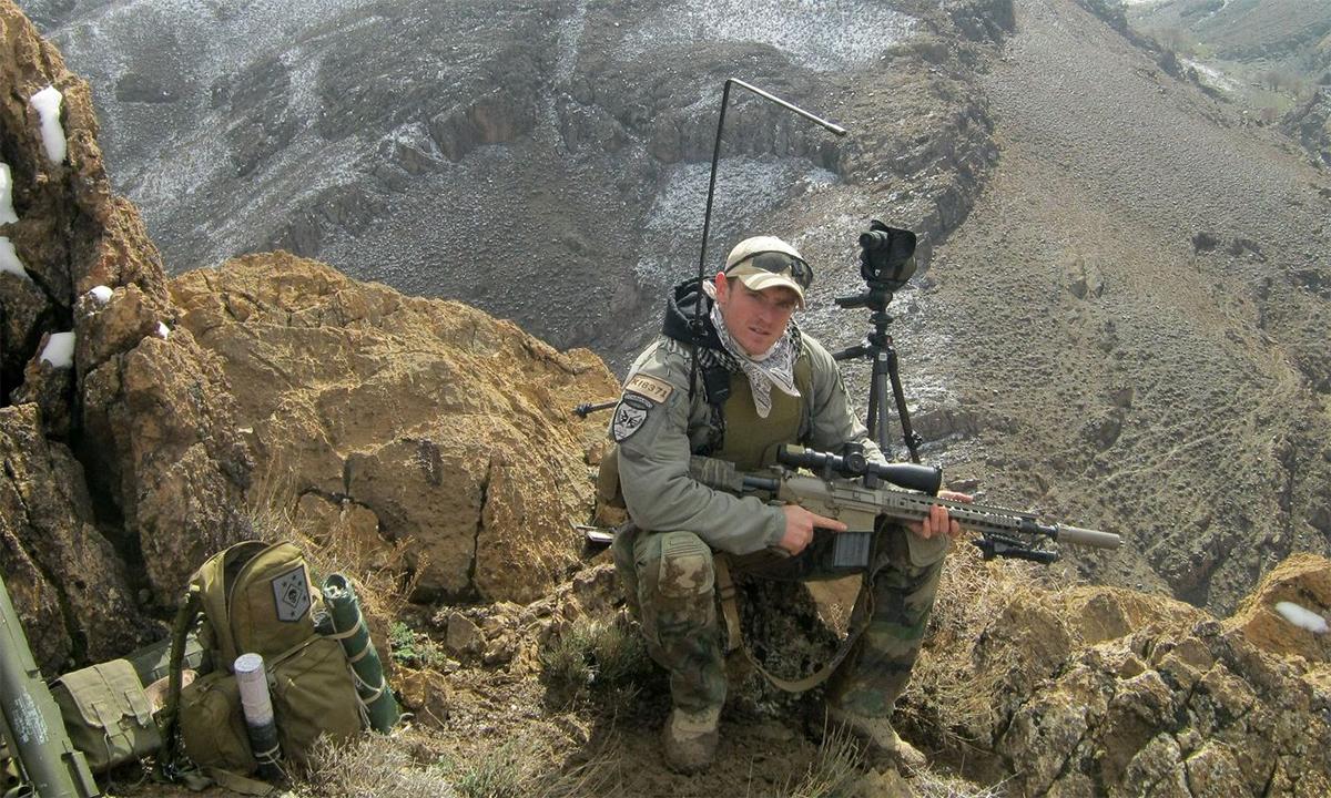 James Kiernan trong một lần làm nhiệm vụ tại Afghanistan. Ảnh: Washington Post.