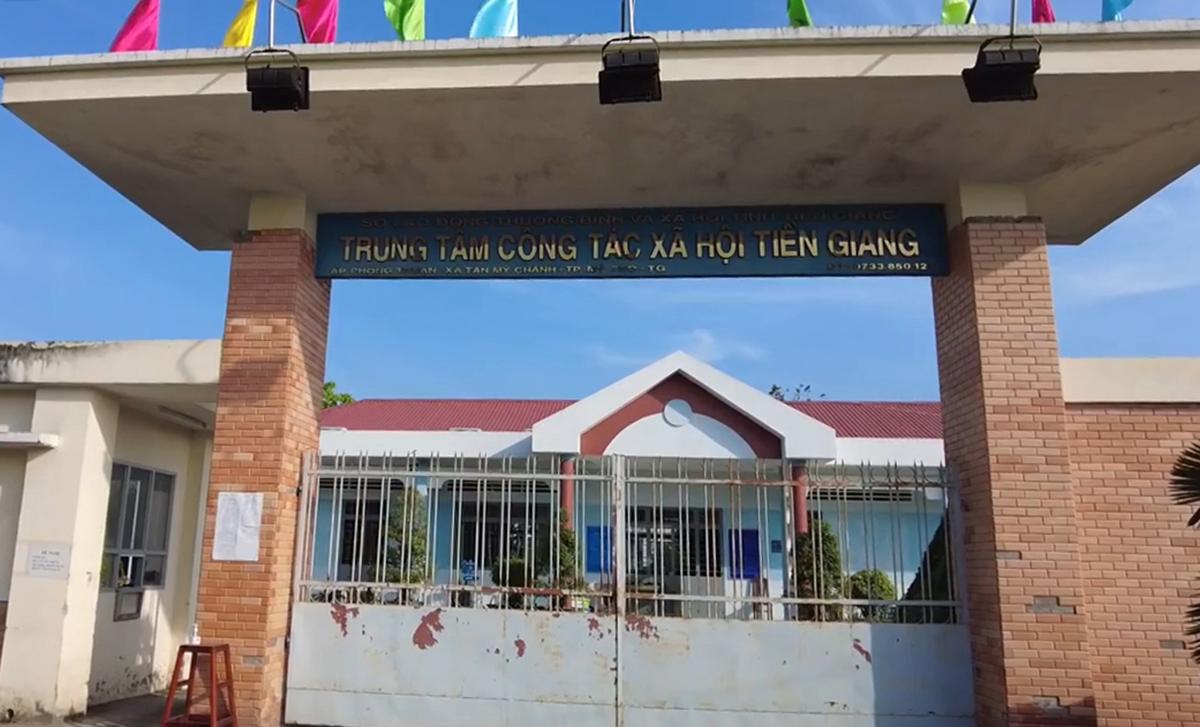 Trung tâm Công tác xã hội Tiền Giang hiện có 100 F0, Giám đốc trung tâm này đã bị tạm đình chỉ công tác 15 ngày. Ảnh: Nam An