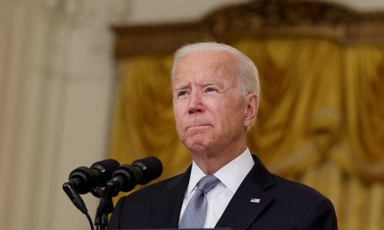 Tổng thống Mỹ Joe Biden phát biểu về cuộc khủng hoảng Afghanistan tại Nhà Trắng hôm 16/8. Ảnh: AFP.