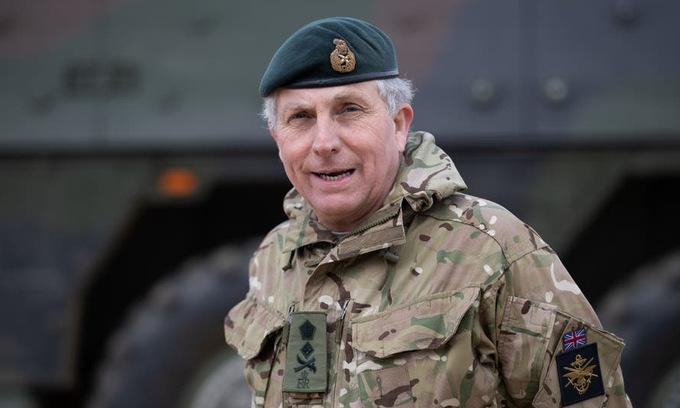 Tướng Nick Carter, tổng tham mưu trưởng quân đội Anh. Ảnh: AP.