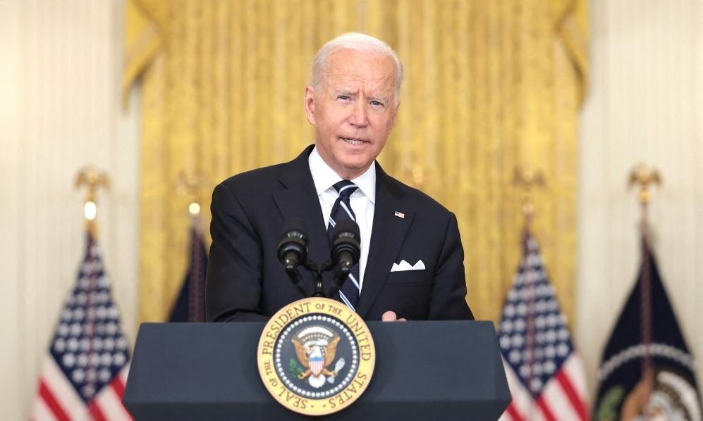 Tổng thống Mỹ Joe Biden phát biểu tại Nhà Trắng ngày 18/8. Ảnh: AFP