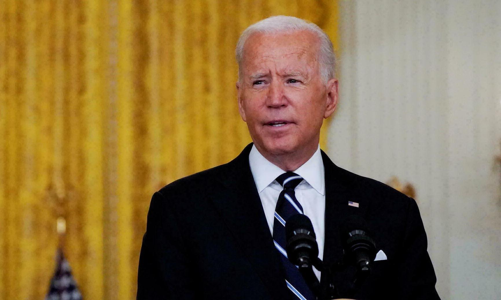 Tổng thống Mỹ Joe Biden phát biểu tại Nhà Trắng hôm 18/8. Ảnh: Reuters.