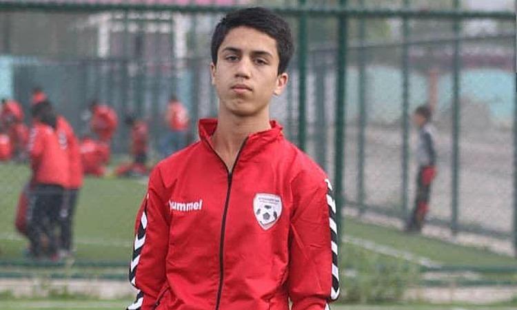 Cầu thủ Zaki Anwari. Ảnh: Facebook/Elias Niazi