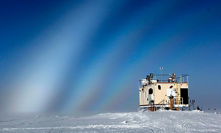 Trạm Đỉnh của Quỹ Khoa học Quốc gia Mỹ (NSF) ở độ cao khoảng 3.200 m. Ảnh: NSF/Brant G. Miller