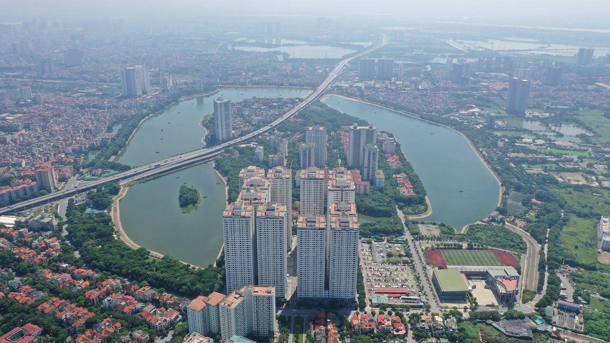 Khu đô thị Linh Đàm, Hà Nội, nhìn từ trên cao. Ảnh: Ngọc Thành