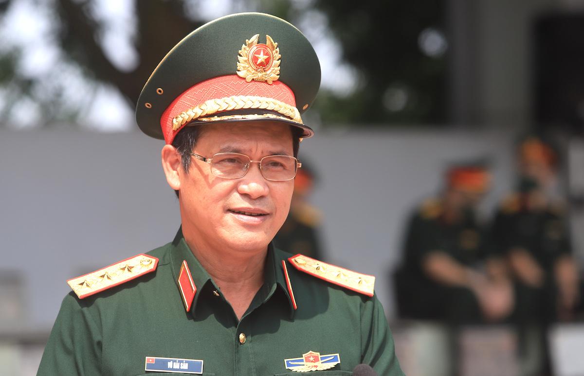 Thượng tướng Vũ Hải Sản, Thứ trưởng, Trưởng Ban chỉ đạo phòng, chống Covid-19 của Bộ Quốc phòng. Ảnh: Hiếu Duy