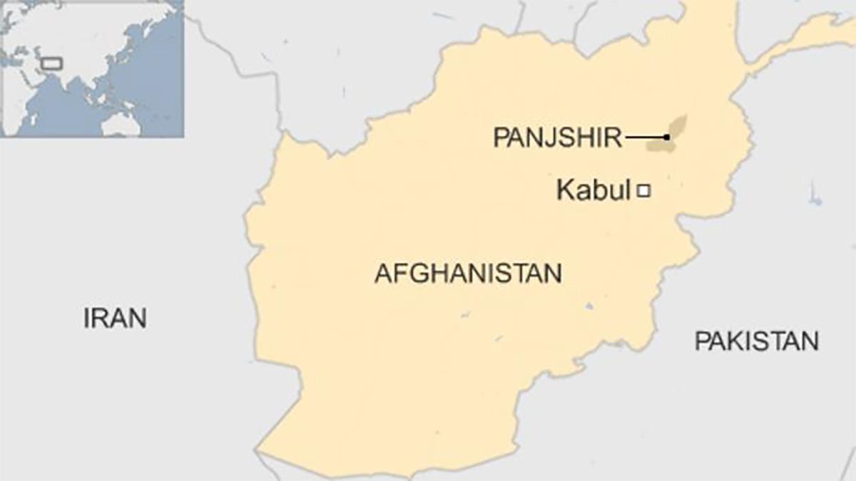 Vị trí tỉnh Panjshir của Afghanistan, Đồ họa: BBC.