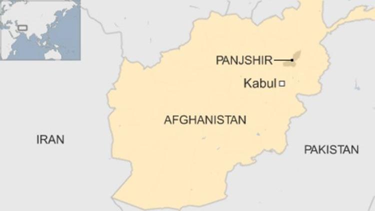 Vị trí khu vực Panjshir. Đồ họa: BBC.
