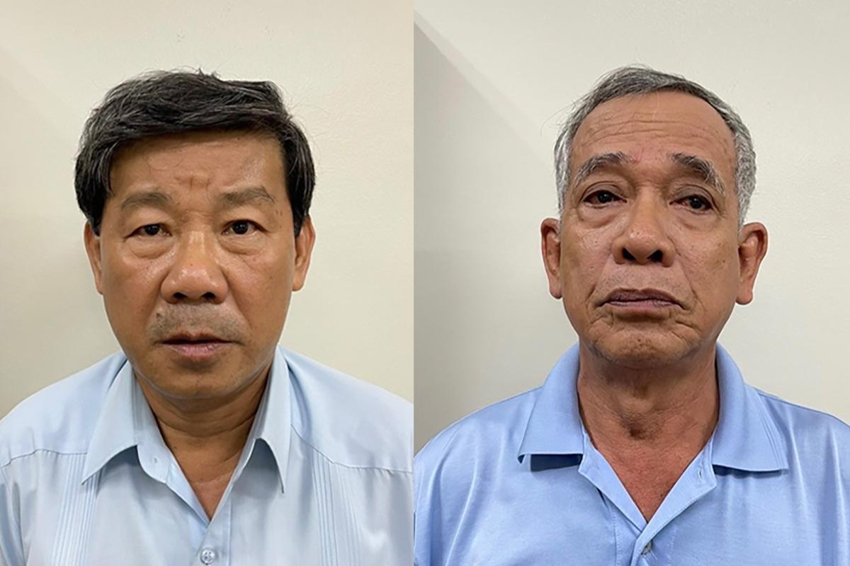 Bị can Trần Thanh Liêm (trái) và Phạm Văn Cành. Ảnh: Bộ Công an.