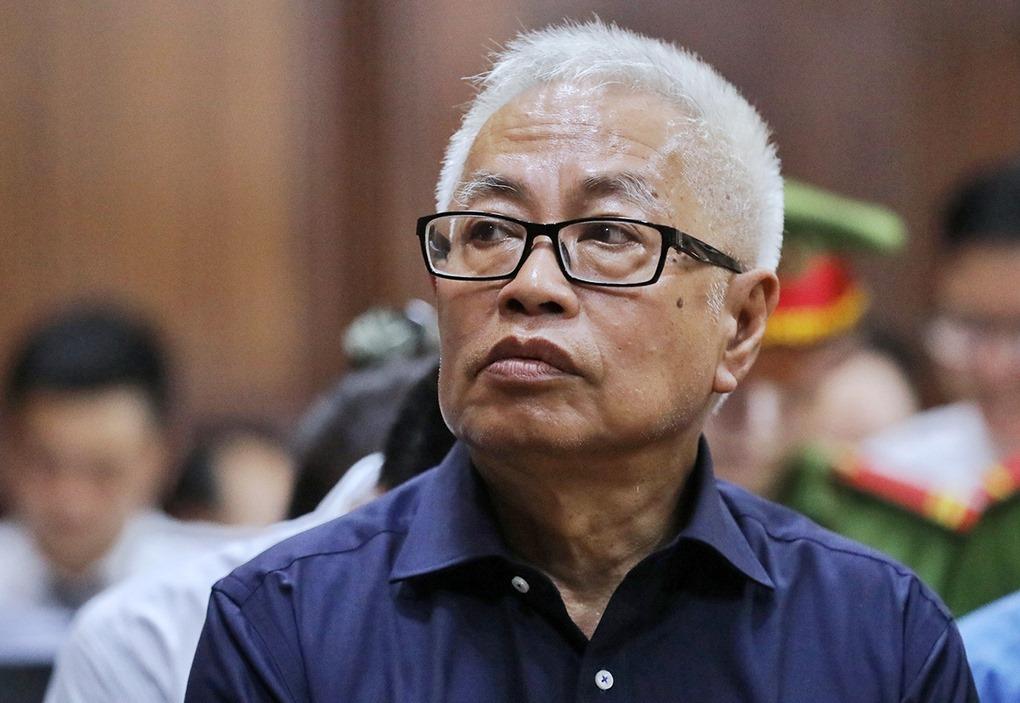 Ông Trần Phương Bình tại phiên toà ở TP HCM. Ảnh: Quỳnh Trần