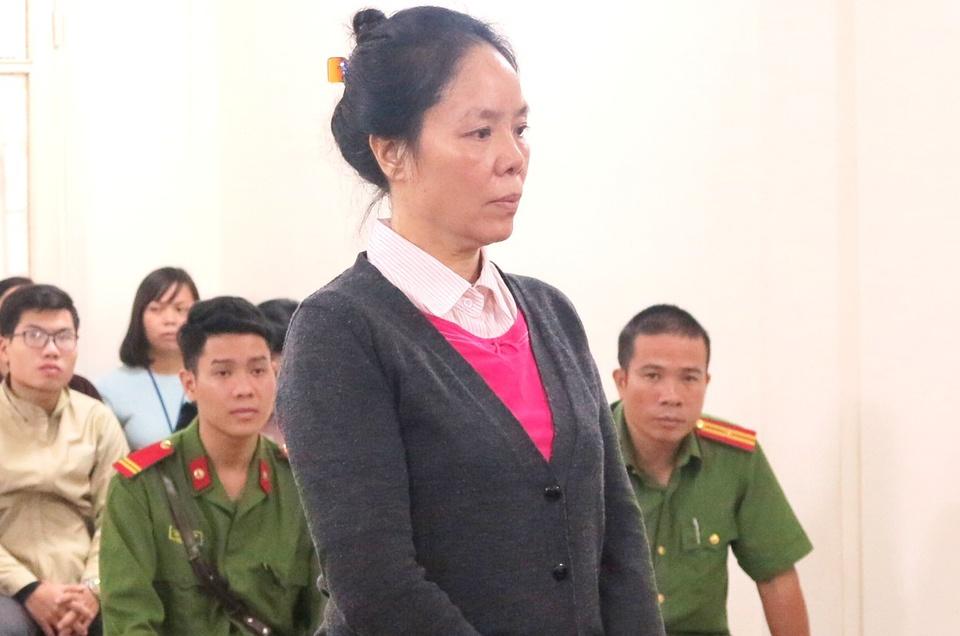 Phan Thúy Mai tại phiên tòa ở Hà Nội năm 2017. Ảnh: Song Minh.