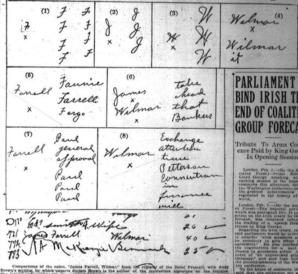 Các mẫu viết tay của cả Carter và James đều giống với mẫu của kẻ tình nghi lưu lại trong sổ khách sạn. Ảnh: Forum news service
