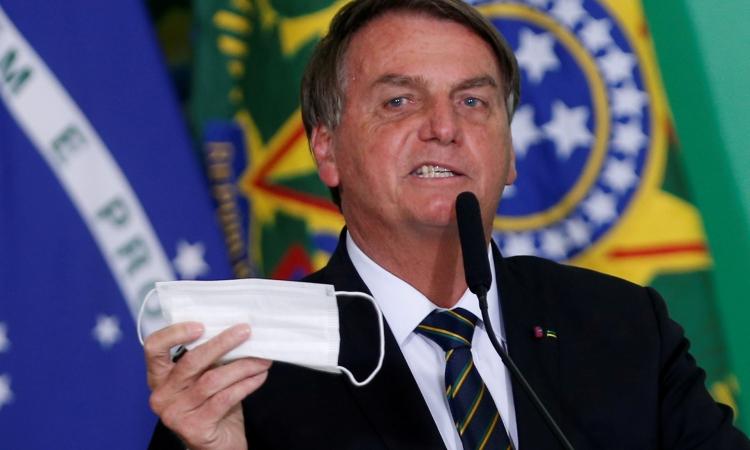 Tổng thống Brazil Jair Bolsonaro tại Brasilia hôm 10/6. Ảnh: Reuters.