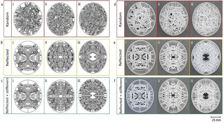 Bản thiết kế (trái) và kết cấu 3D được nhóm in thành công. Ảnh: NNC.