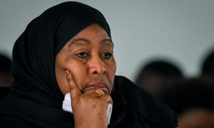 Tổng thống Tanzania Samia Suluhu Hassan. Ảnh: AFP.