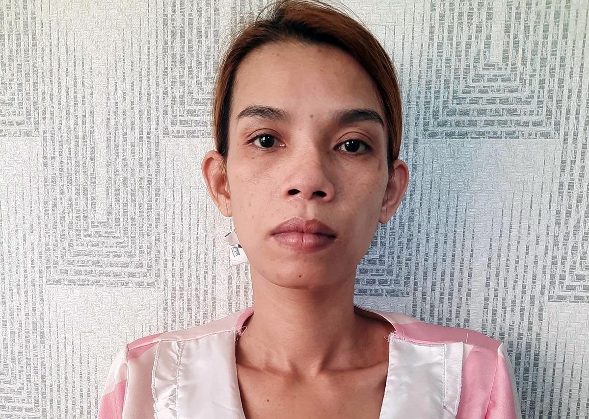 Nguyễn Thị Kim Anh tại cơ quan điều tra. Ảnh: An Phú