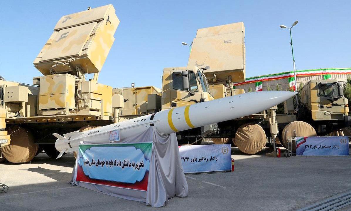Hệ thống Bavar-373 được Iran trưng bày hồi năm 2019. Ảnh: IRNA.