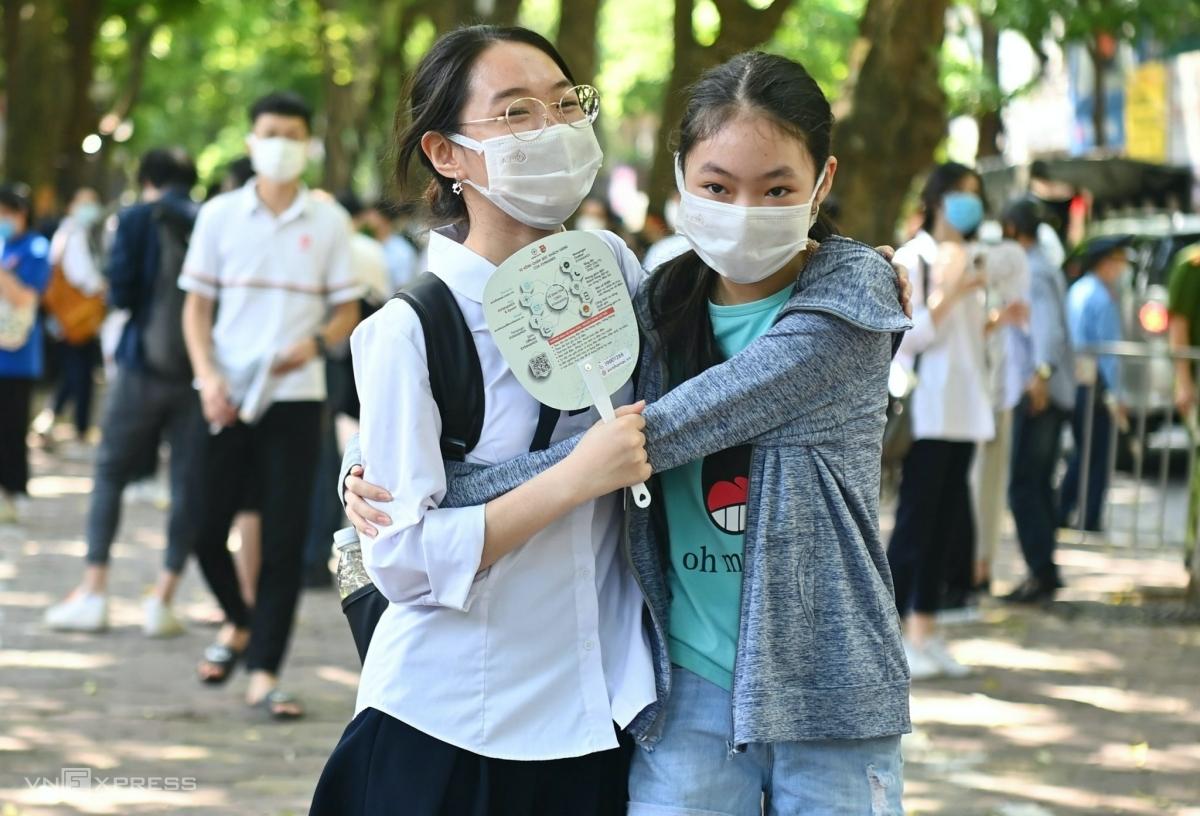 Thí sinh dự thi tốt nghiệp THPT đợt 1 năm 2021 tại Hà Nội. Ảnh: Giang Huy