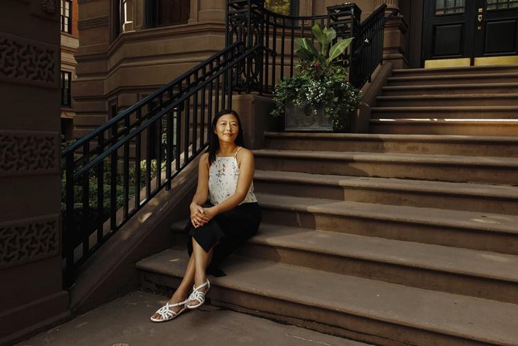 Tiến sĩ Alina Chan tại Boston. Ảnh: NYTimes.